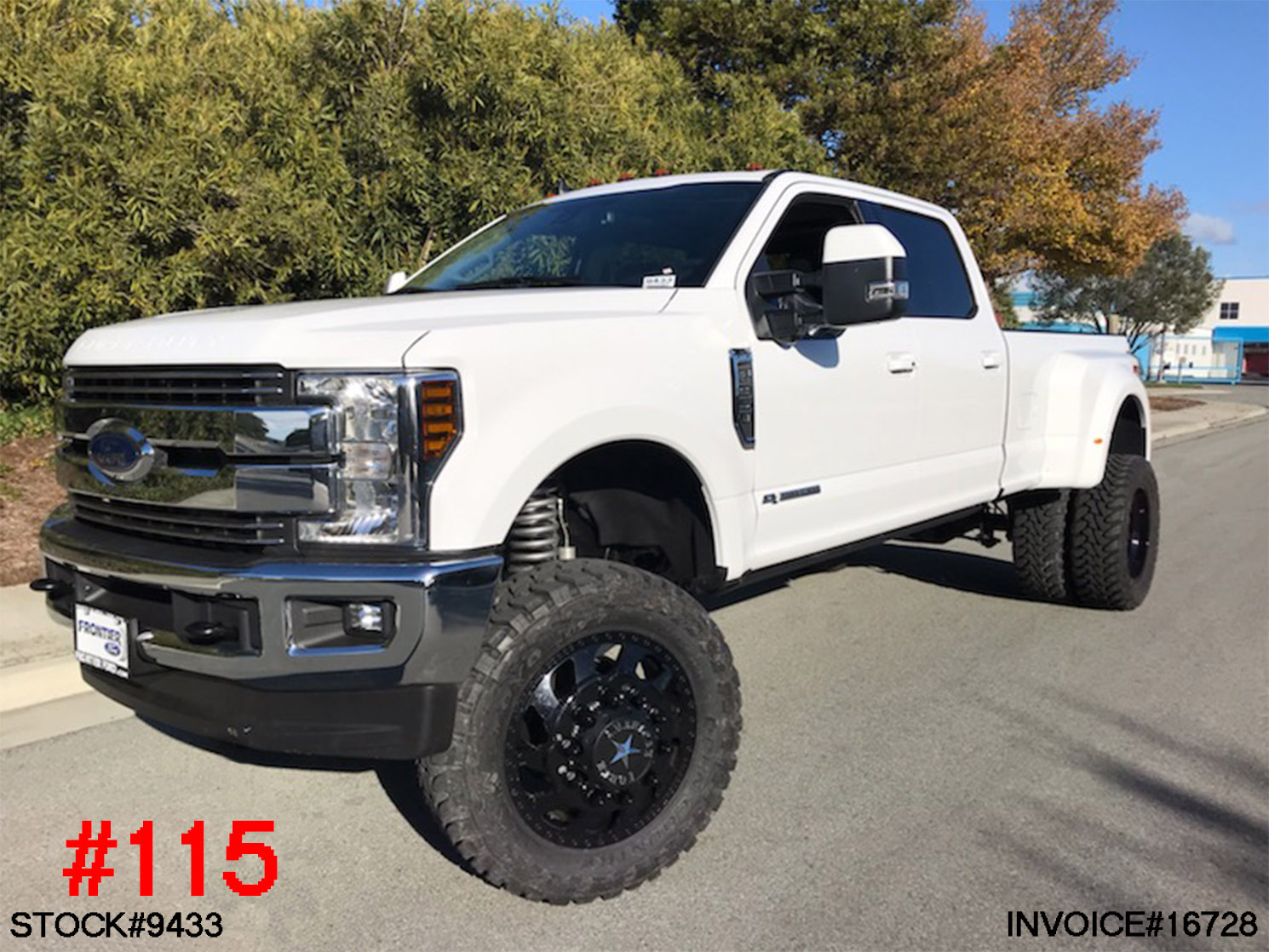 #9433 2019 FORD F350 DUALLY CREW CAB