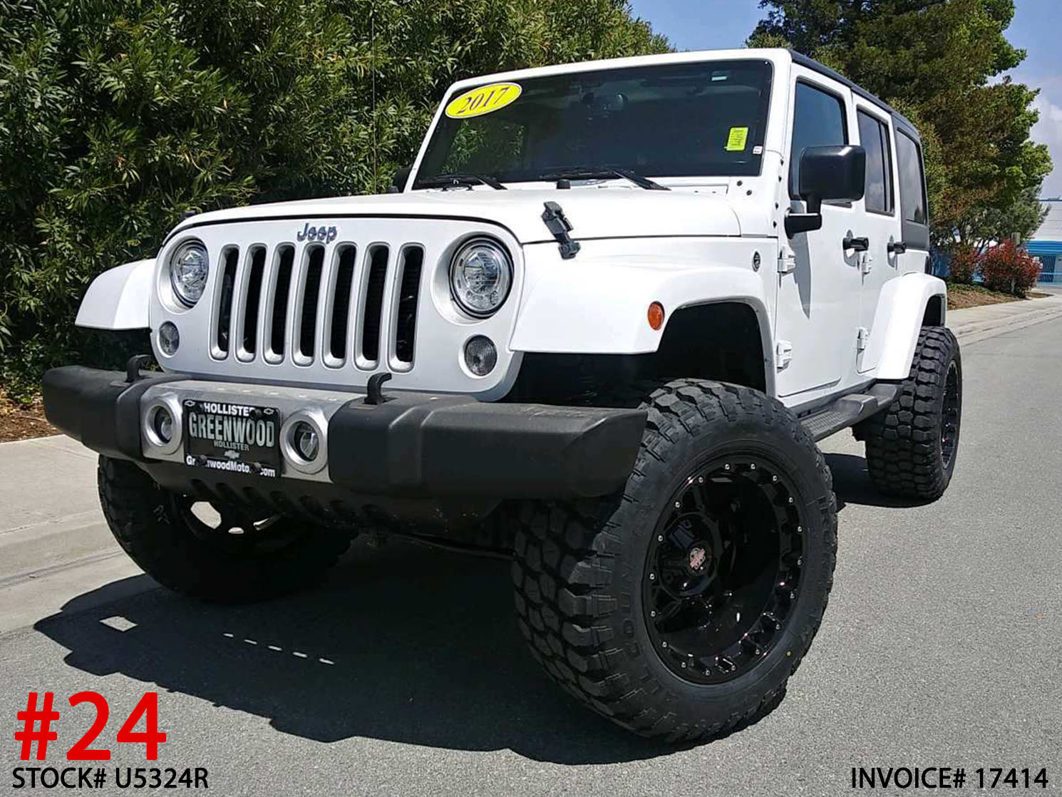 USED 2017 JEEP WRANGLER 4DR #U5324R