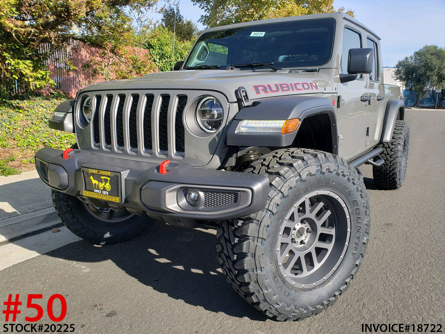 2020 JEEP GLADIATOR RUBICON #20225